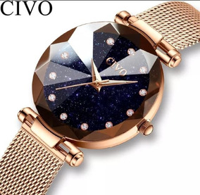 Relógio Feminino Civo Casual De Luxo A Prova D