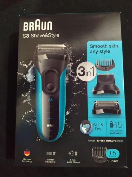 Afeitadora Electrica Braun S3 3010bt Antiagua Inalambrica