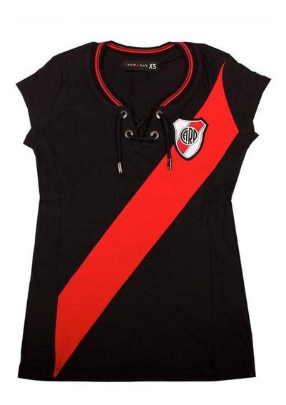 Camiseta River Plate Carp Dama Mujer Vintage Retro Cordones