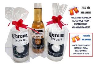 Dia Del Amigo Con 1 Cerveza Mas 2 Vasos Regalo Original