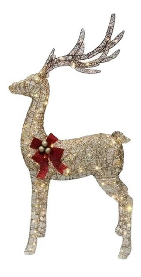 Rena Decoração Natalina 1,62 Altura Iluminada Com Led Natal