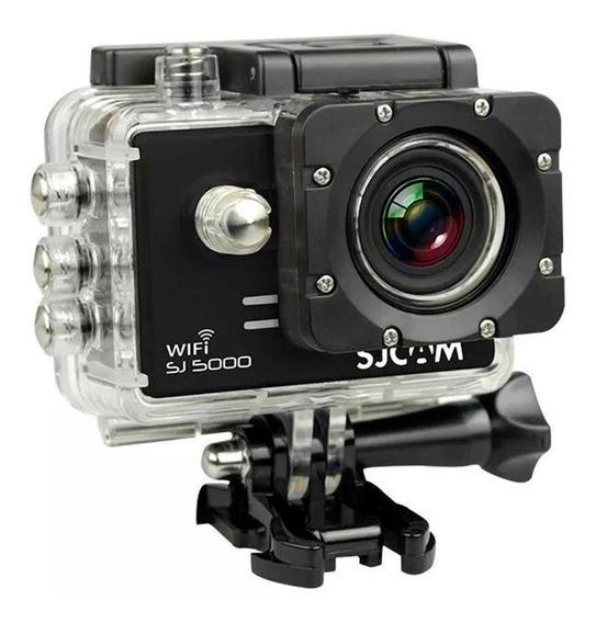 Câmera Filmadora Full Hd Wifi 14mp 4k Sjcam Sj5000 Preta