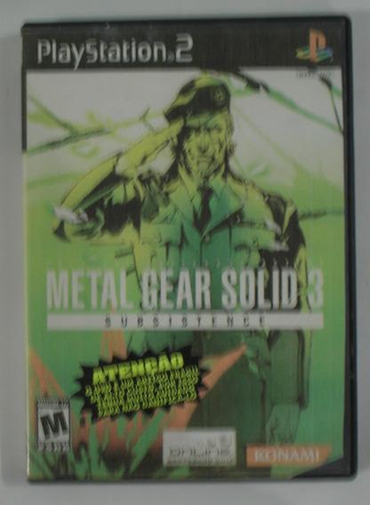 Metal Gear Solid Subsistence 3 (disco 1) Ps2 Original Usada