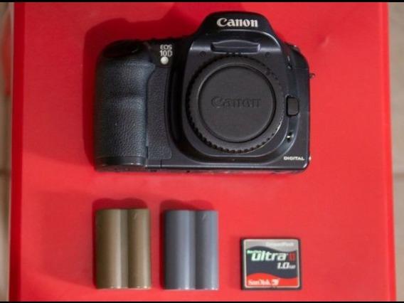 Canon Eos 10d Corpo + 2 Bat + 1gb + Carregador