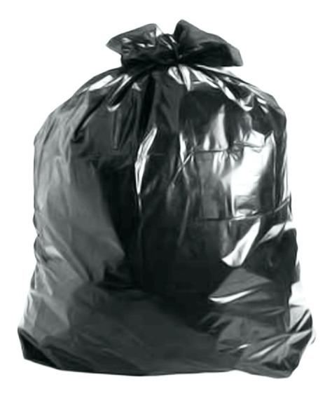 Saco Plastico De Lixo Reforçado 50 Litros Preto - 30 Sacos