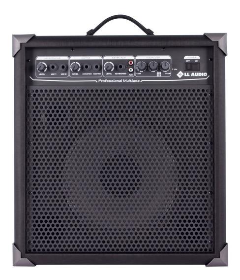 Caixa Amplificada Ll Lx100 P/ Microfone Guitarra Violão-loja