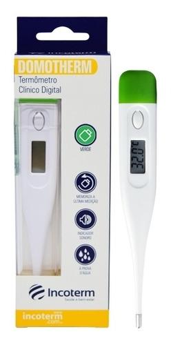 Termômetro Clínico Digital  Branco E Verde Incoterm