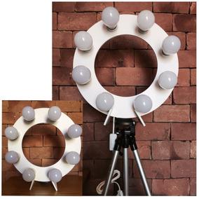 Ring Light Br + 8 Led + Tripé 1,30 + Sup + Brinde Ring Cel