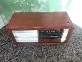 Caixa Radio Antigo De Madeira Teleotto (somente A Caixa)
