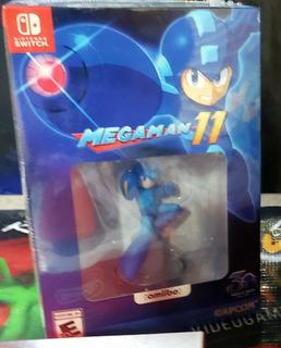 Juego De Switch Mega Man 11 Especial Edition Amiibo+game