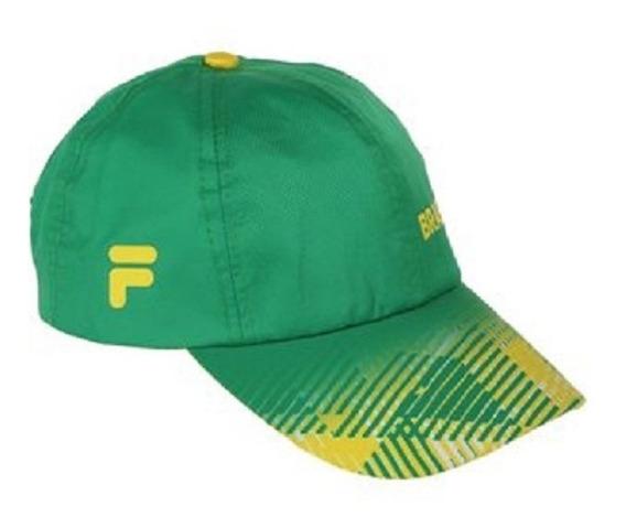Gorra Fila Brasil Verde Original Con Etiqueta