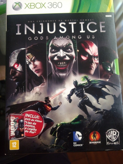 Injustice Gods Among Us + Combo De Personagens + Dvd Filme