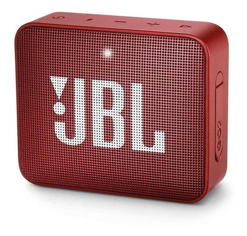 Parlante Jbl Go 2 Portátil Con Bluetooth Ruby Red