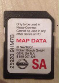 Cartão Gps Nissan Sentra 2016