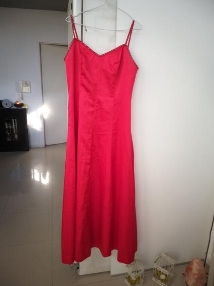 Vendo Vestido Rojo Fiesta Y Chal