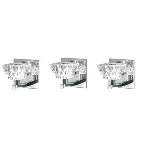 3 Arandela Interna Vidro Cristal Espelho Banheiro Sala Alz5