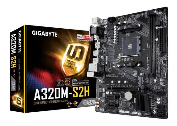 Proc Athlon 200ge + Placa Gigabyte A320m + Memória Ddr4 4gb