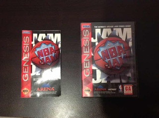 Caja Y Manual Nba Jam - Sega Genesis