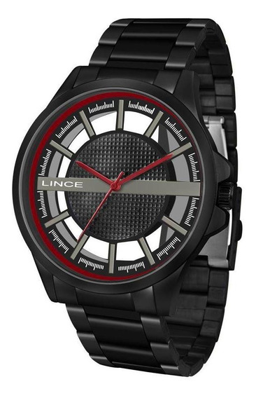 Relógio Lince Masculino Preto Analógico Mrn4580s