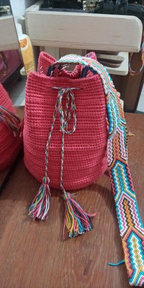 Bolsas Saco Em Crochê Estilo Colombiana