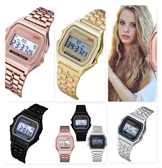 Relógios Feminino Casio Digital Aço Prata Dourado Rosa #$(saldo De Estoque) Com Pequeno/risco, Preço De Custo Tempo Lim