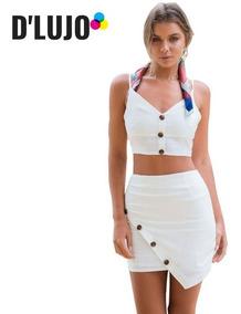 Conjunto Dama Falda Exclusiva + Blusa Casual Mujer Comodo