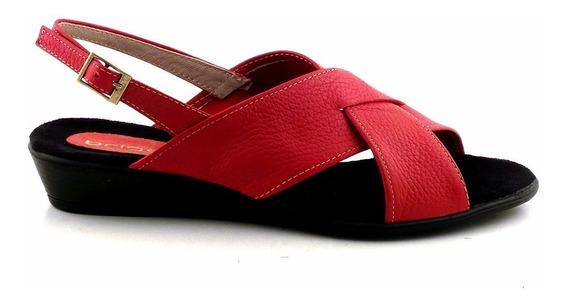 Sandalia Cuero Mujer Briganti Zapato Confort - Mcsd04561