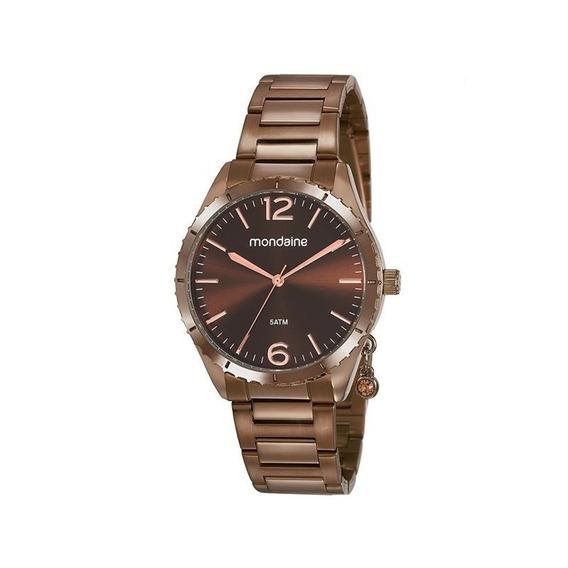 Relógio Mondaine Feminino Marrom 53757lpmvme3