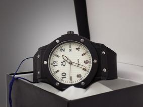 Relógio Digital Masculino Preto Borracha + Caixa