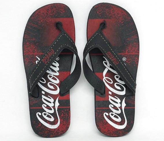 Chinelo Coca Cola Preto E Vermelho , Chinelo Colcci Preto E