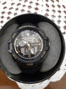 Relógio X Games Masculino Preto Com Dourado