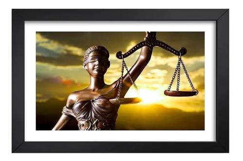 Imagem 1 de 6 de Quadro Advocacia 65x45cm Deusa Da Justiça Direito Advogado