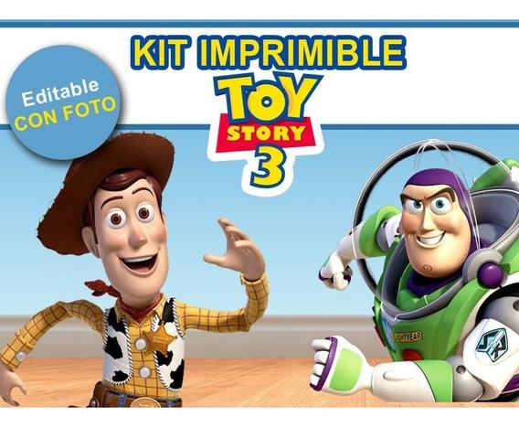 Kit Imprimible Editable Toy Story Con Foto!! Golosinas