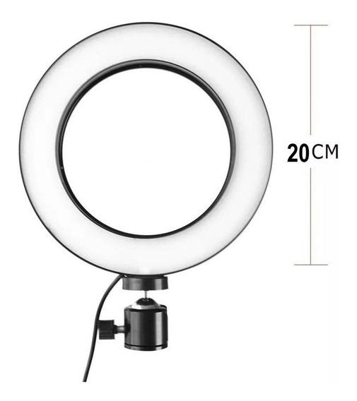 Iluminador Ring Light Led Usb 20cm Celular Selfie Youtube