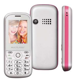 Celular Multilaser Up Dual P3293 Branco/rosa Com Nfe 12x S/j