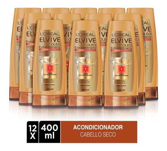 Pack 12x Acondicionador Elvive Oleo Extraordinario L