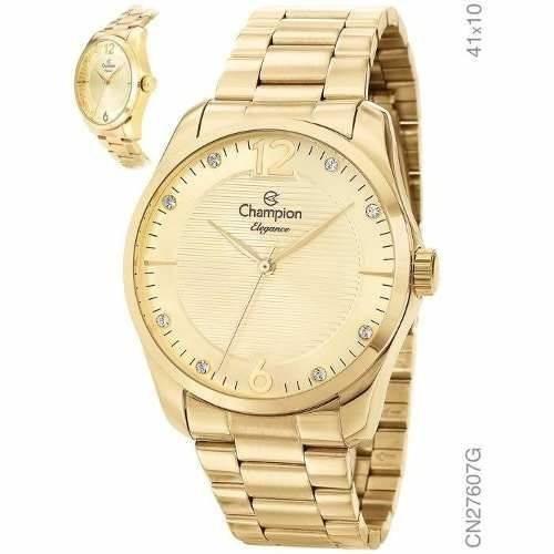 Relógio Champion Feminino Cn27607g Dourado
