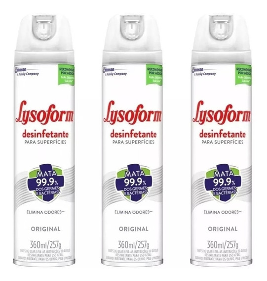 Lysoform Aerosol Spray Original 360ml (kit C/3und)