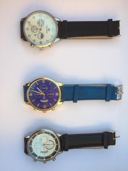Relógio Pulseira Em Couro, Cada Unidade Apenas R$ 45,99