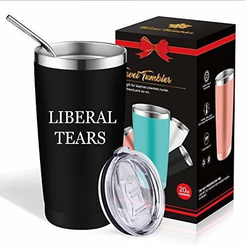 Divertido Vaso De Viaje Liberal Lagrimas Politicas Gran Ide
