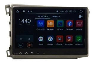 Multimidia Honda Civic 2012 2013 2014 Car Play Android 8.0