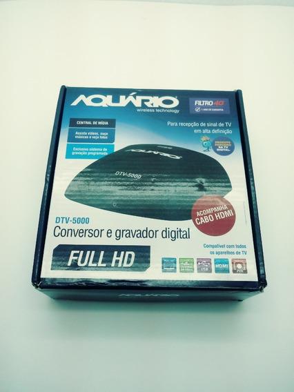 Conversor E Gravador Digital Tv Aquario - Dtv-5000