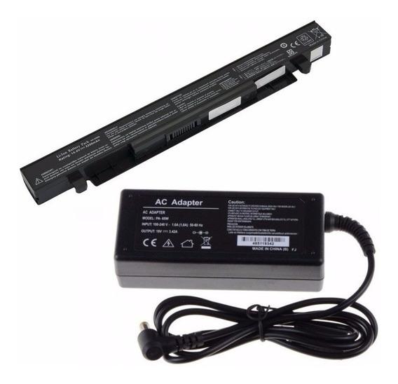 Kit Bateria 4400mah + Carregador P/ Asus X550a A41-x550a