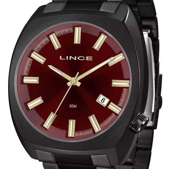 Relógio Lince Masculino Quadrado Mrn4584s V1px Original + Nf