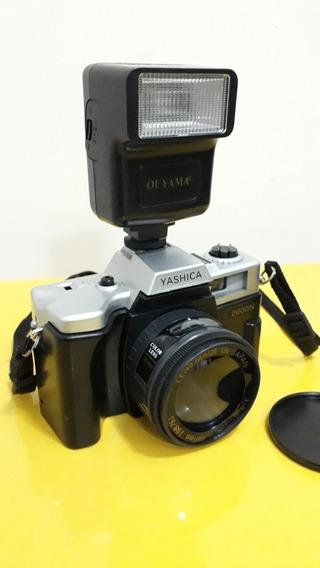 Câmera Fotográfica Analógica Yashica 2000n Antiga Com Flash