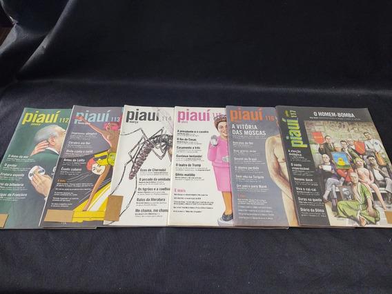 Coleção 12 Revistas Piaui Ano 11 Janeiro 112 A Dezembro 123
