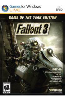 Fallout 3 Con Todas Las Expansiones Para Pc Steam Original