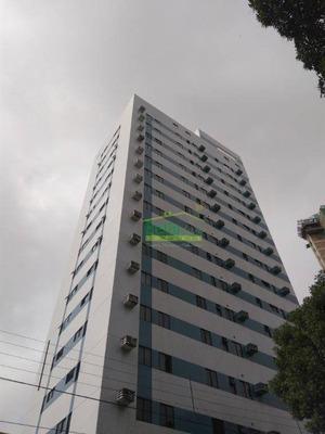Flat 100% Mobiliado Com 1 Dormitório Para Alugar, 40 M² Por R$ 1.200/mês - Casa Amarela - Recife/pe - Fl0042