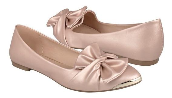 Zapatos De Dama Capa De Ozono 405103-4 Simipiel Oro Rosado