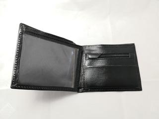 Billetera 100% Cuero Hombre Artesanal + Caja Madera D Regalo